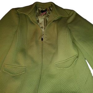 East 5th Quilted Sage Green Zip Jacket Sz 8 Petite